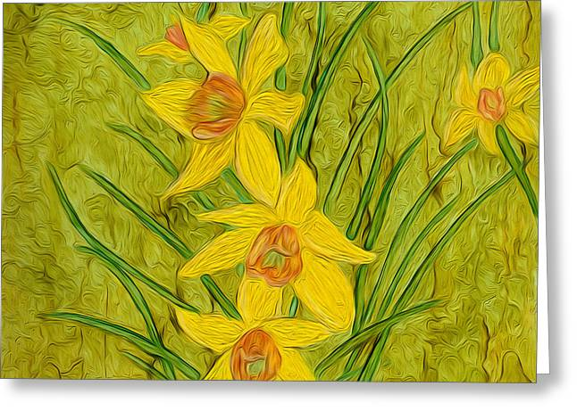 Daffodils Too Greeting Card