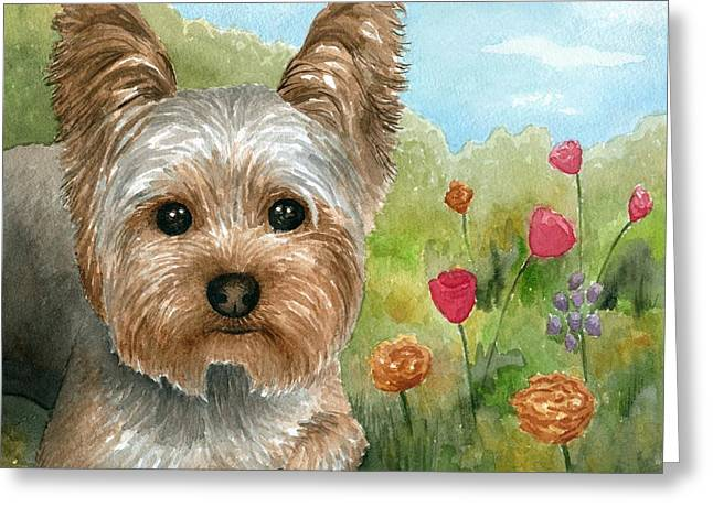 Dog 117 Greeting Card by Lucie Dumas