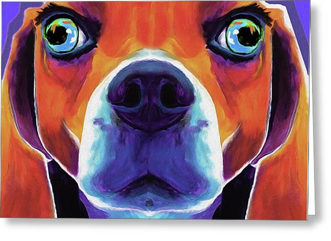 Basset Hound #01 By Nixo Greeting Card
