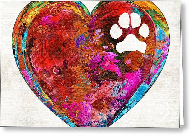 Dog Art - Puppy Love 2 - Sharon Cummings Greeting Card