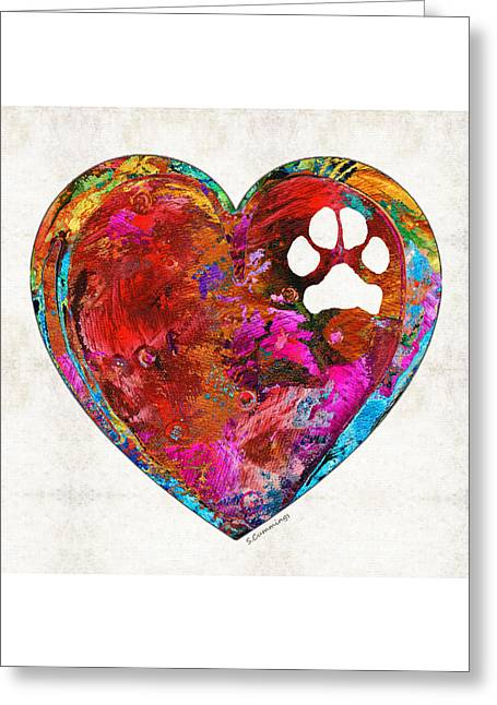Dog Art - Puppy Love 2 - Sharon Cummings Greeting Card