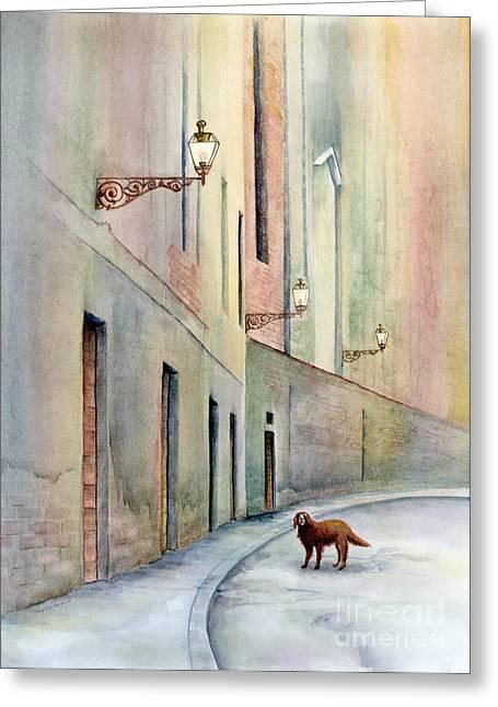 Dog Days Of Vicenza Greeting Card
