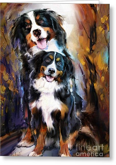 Dog Family Greeting Card