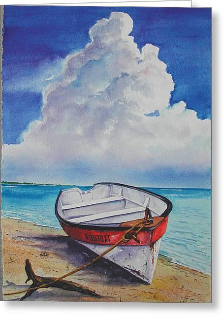 Dog Island Dorie Greeting Card by Chuck Creasy