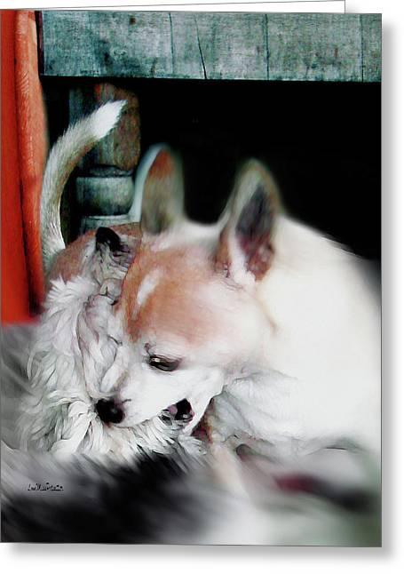 Dog Love Art 3 Greeting Card
