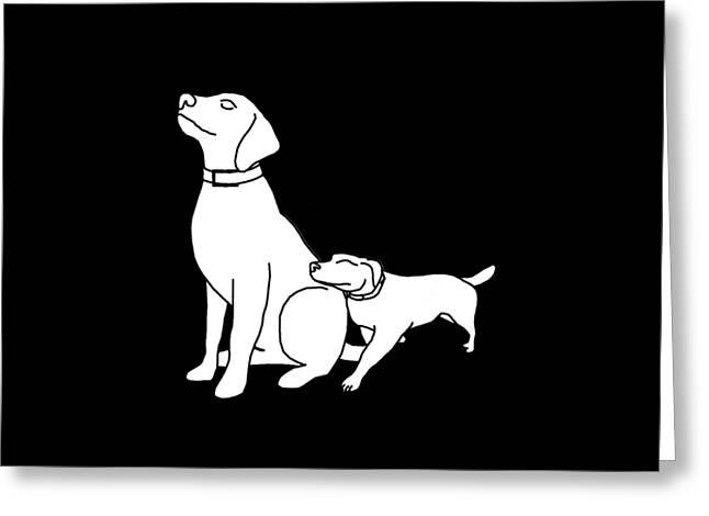 Dog Love Tee Greeting Card by Edward Fielding