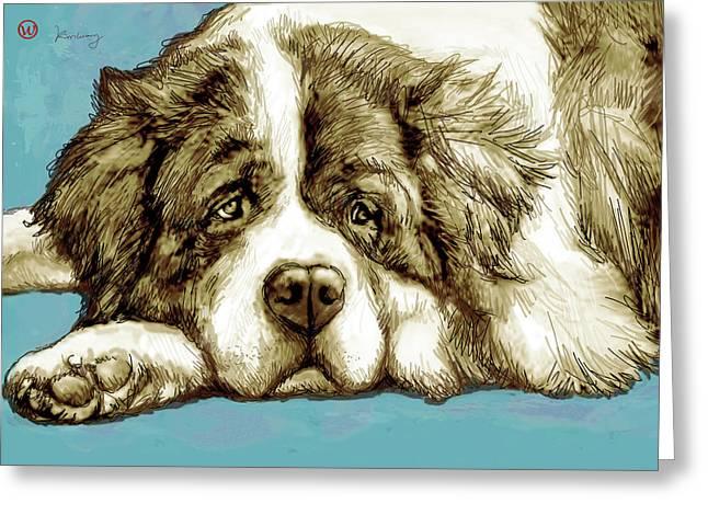 Dog -  New Pop Art Poster Greeting Card