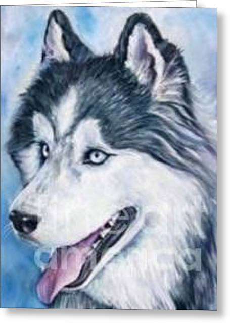 Dog Pet Portrait By Artist Ma Greeting Card by Renee Dumont  Museum Quality Oil Paintings  Dumont