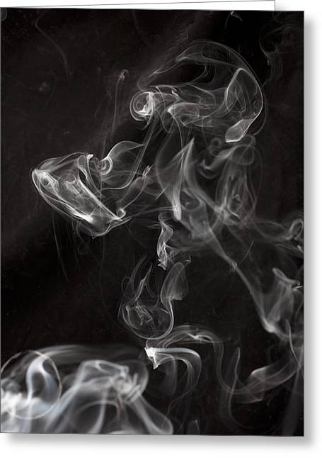 Dog Smoke Greeting Card by Garry Gay