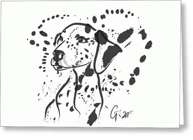 Dog Spot Greeting Card
