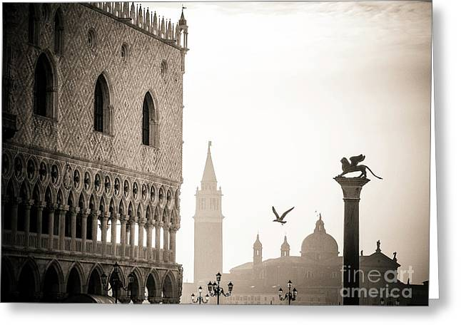 Doge's Palace S At Piazza San Marco In Venice, Italy Greeting Card by Bernard Jaubert