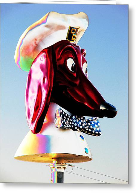 Doggie Diner Sign Greeting Card