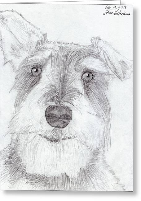 Face Greeting Cards - Doggie Greeting Card by Jose Valeriano