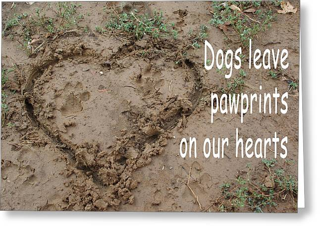 Dogs Leave Pawprints Greeting Card by Robyn Stacey