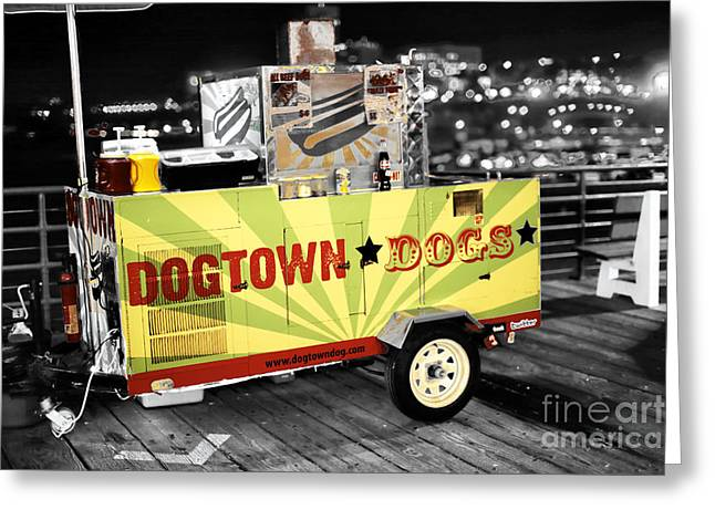 Dogtown Dogs Fusion Greeting Card by John Rizzuto