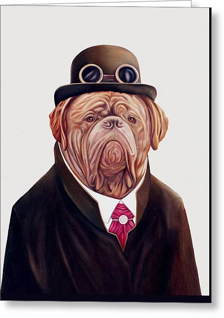 Dogue De Bordeaux Greeting Card by Animal Crew