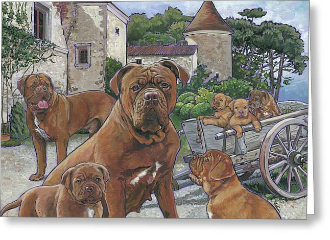 Dogue De Bordeaux Greeting Card by Nadi Spencer