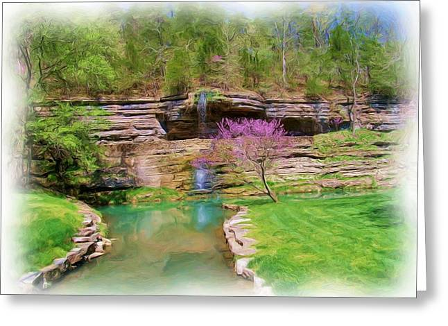 Dogwood Canyon Cliffs2 Greeting Card