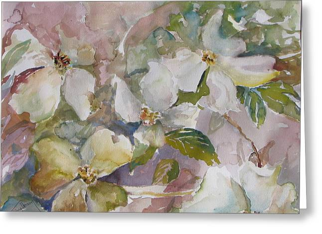Dogwood Greeting Card by Dorothy Herron