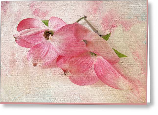 Dogwood Duo Greeting Card by Jessica Jenney