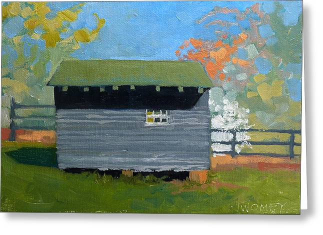 Dogwood Farm Shed Greeting Card by Catherine Twomey