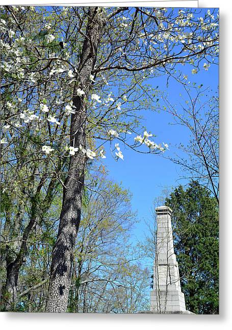 Dogwoods On Crest Of Kings Mountain National Military Park Greeting Card by Bruce Gourley