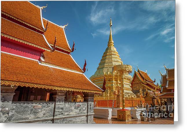 Doi Suthep Temple Greeting Card by Adrian Evans