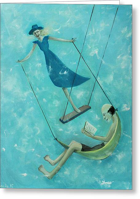 Doing The Swing Greeting Card