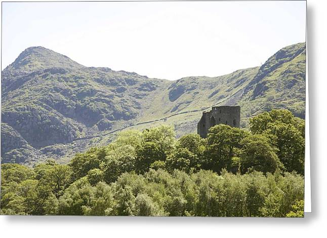 Dolbadarn Castle.  Greeting Card by Christopher Rowlands