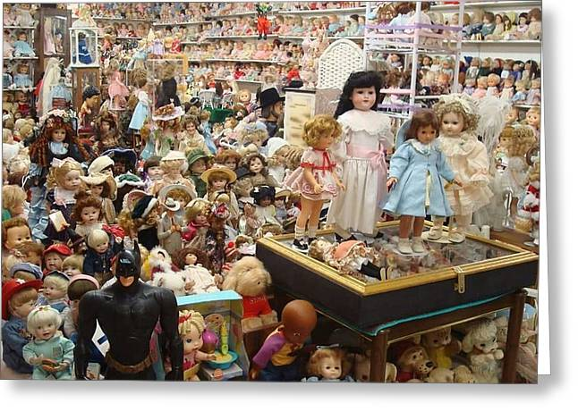Doll Heaven Greeting Card by Cindy  Riley