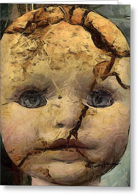 Trauma Greeting Cards - Doll Trauma Greeting Card by Anthony Caruso