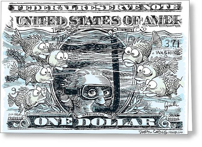 Dollar Submerged Greeting Card