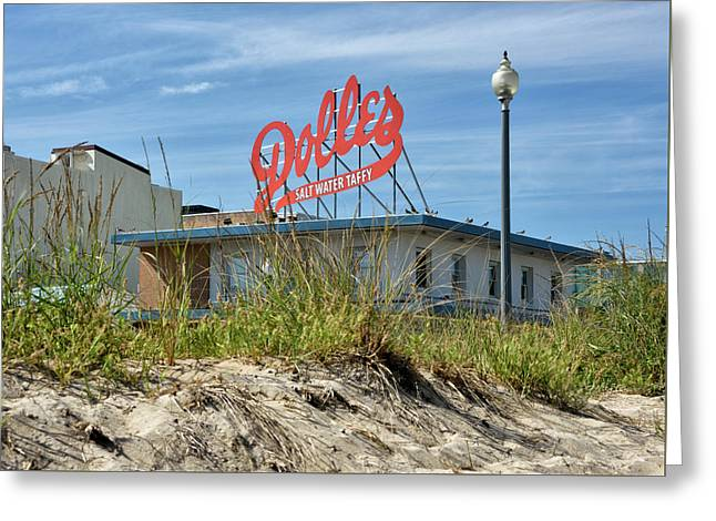 Greeting Card featuring the photograph Dolles Candyland - Rehoboth Beach Delaware by Brendan Reals