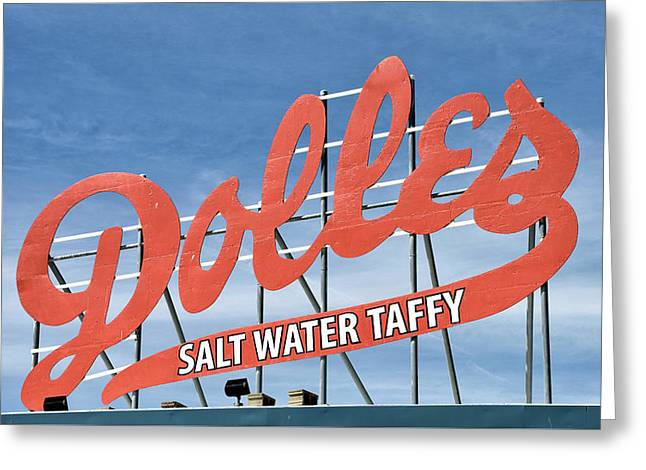Greeting Card featuring the photograph Dolles Salt Water Taffy - Rehoboth Beach  Delaware by Brendan Reals