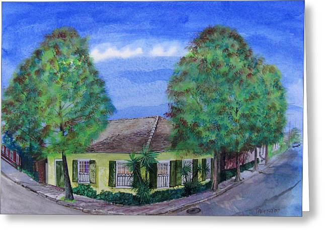 Dolliole Cottage Greeting Card by Tom Hefko