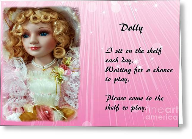 Dolly Greeting Card by Geraldine DeBoer