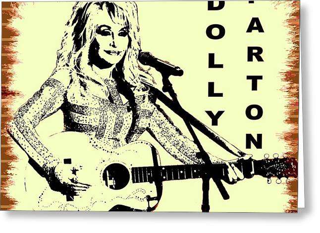 Dolly Parton Graffiti Poster Greeting Card by Dan Sproul