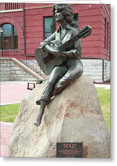 Dolly Parton Statue Greeting Card by Dan Sproul