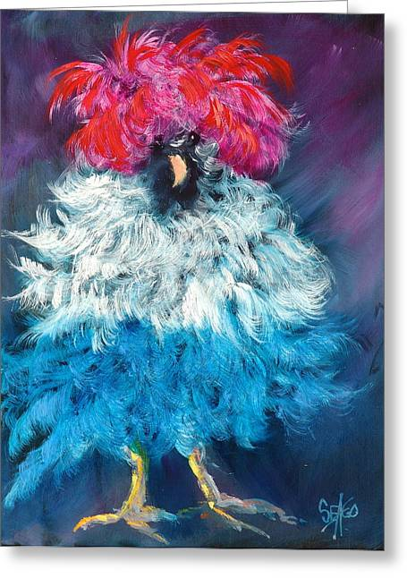 Best Sellers -  - 4th July Paintings Greeting Cards - Dolly Greeting Card by Sally Seago