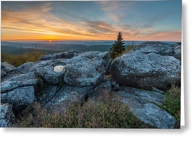 Monongahela National Forest Dolly Sods Wilderness Sunrise Greeting Card
