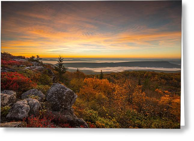 Dolly Sods Wilderness Peak Fall Sunrise Greeting Card