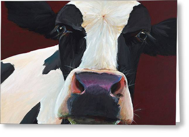 Dolly The Holstein Greeting Card by Cari Humphry