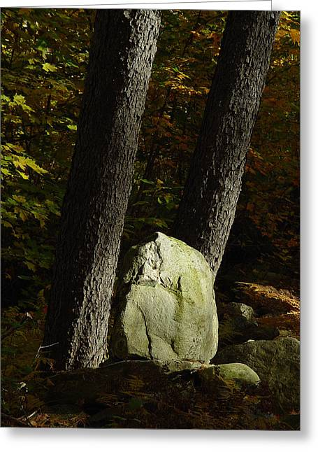Cummington Greeting Cards - Dolmen in the Works Greeting Card by Rosemary Wessel