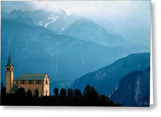 Dolomite Church Greeting Card