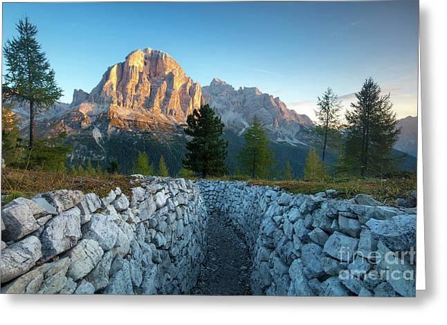 Dolomite Dawn Greeting Card by Brian Jannsen