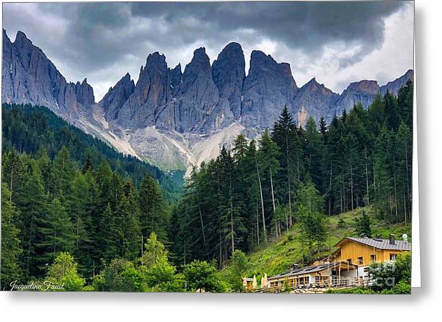 Dolomite Drama Greeting Card