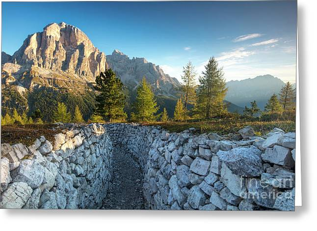 Dolomite Morning Greeting Card by Brian Jannsen