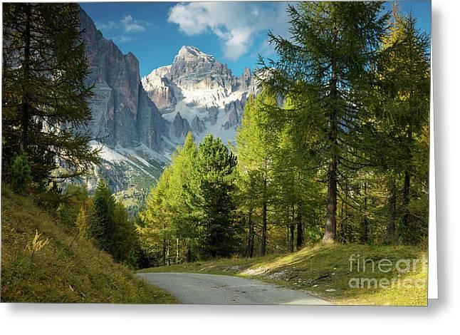 Dolomite Pathway Greeting Card by Brian Jannsen