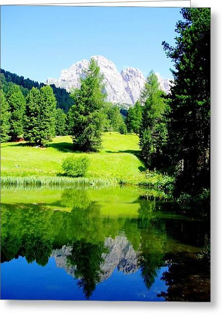 Dolomiti Greeting Card by Darkus Photo
