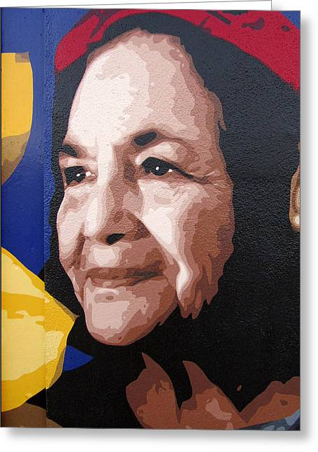 Dolores Huerta Greeting Card by Roberto Valdes Sanchez